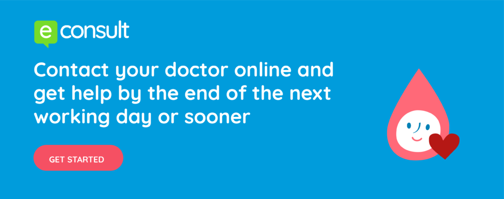 Contact your doctor online and get help by the end of the next working day or sooner